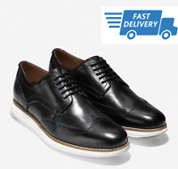 🔥COLE HAAN ORIGINAL GRAND Wingtip Oxford Men's Shoes Black C26469 NEW ALL Size
