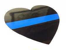 "3""x4"" HEART THIN BLUE LINE Decals Stickers Vinyl FOP Police Blue Lives Matter"