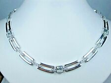 "Swarovski Crystals - Length 16-18"" 1895 Nina Ricci Rhodium Plated Necklace with"