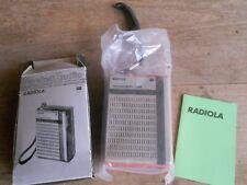 radio transistor Radiola mini poste orange anciennes grenier vintage