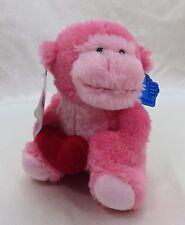 "Pink Valentine Heart Monkey Gorilla Plush Stuffed Animal Applause by RUSS 6"""