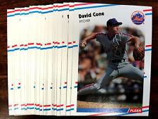 1988 Fleer DAVID CONE ~ 20 CARDS LOT ~~ MAJOR LEAGUE ACE PITCHER