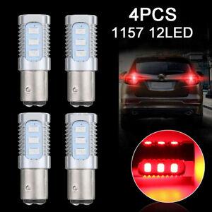 4Pcs Red 1157 LED Bulbs Flashing Strobe Blinking Tail Stop Brake Lights Lamps US