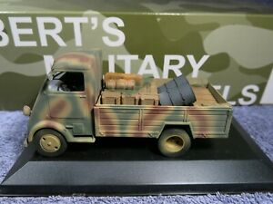 Solido / BMM CAPTURED PEUGEOT DMA TRANSPORT ;UNKNOWN UNIT ; FRANCE 1944 (1/43)