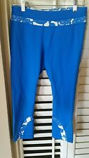 LULULEMON Run For Your Life Crop Pants Beaming Blue Laceoflage size 8