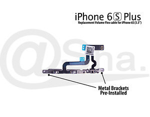 """Volume & Mute Switch Flex Cable With Bracket Replacement for iPhone 6S Plus 5.5"""""""