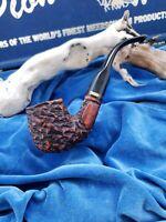 NEVER SMOKED Antique Rare LEONESA RUSTICA ITALY MADE Unique Estate Pipe Virgin
