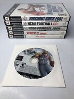 Lot Of 6 Playstation 2 Ps2 Sports Games Nba Espn Nfl Knockout king ncaa