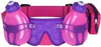 FuelBelt H2O Helium 2 Bottle Hydration Belt Pink Adjustable Running Waist Bag