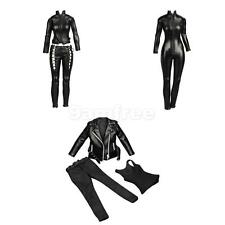 "3 Sets 1/6 Female Leather Jacket Pants Jumpsuit for 12"" Kumik Phicen Hot Toys"