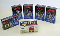 Lot of 6 VHS-C Blank TDK JVC Camcorder Video Cassettes Tapes 30 Min