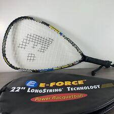 "E-FORCE SHOCK Racquetball Racquet 22"" Longstring Technology Racket w/ Cover"