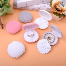 Lovely Jewelry Gift Box Shell Shape Velvet Wedding Engagement Ring Storage Hot