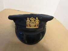 VTG NYPD Sargent Uniform Summer Cap & Badge 60s 70s NYC Policeman Sgt (TS8)