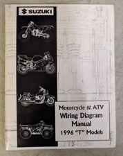 """1996 Suzuki Motorcycle & Atv Wiring Diagram Manual """"T"""" Models 99923-13961"""