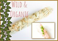 Large WILD & ORGANIC 🌿WHITE SAGE 💚Smudge  Stick 8 inches