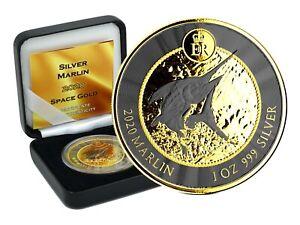 1 OZ Silber Blue Marlin 2020 Cayman Island Gold Space Edition