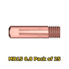 25 x Parweld 0.8mm x M6 MB15 150amp mig contact tips