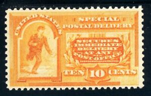 USAstamps Unused VF US 1893 Special Delivery Scott E3 OG MVLH Looks NH