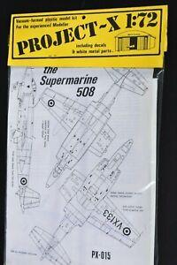 MAINTRACK HANGAR PROJECT-X 1/72 VACUUM FORMED MODEL KIT SUPERMARINE 508