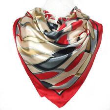 53374b2c5cfd Foulard 100% Soie Multicolore Rouge - Motif Moderne silk séide scarf shawl