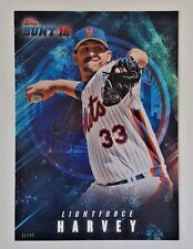 "2016 TOPPS BUNT MATT HARVEY ""LIGHTFORCE"" 5X7 JUMBO ART CARD #/49 METS"