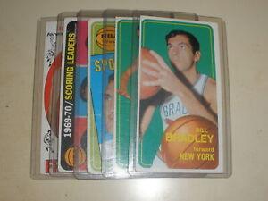 1969-70 1970-71 Topps Bill Bradley Cunningham Jerry West Lew Alcindor Lot of 5