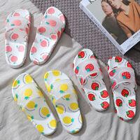 AU Cute Strawberry Fruit Sports Shower Sandals Home Bath Slippers Women Shoes