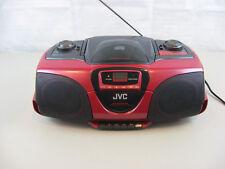 JVC Portable AM/FM Stereo CD/ Cassette Player model RC-BX330RD-Tested & Works