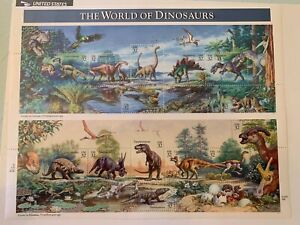 US Stamps SC# 3136a Dinosaurs 32c sheet of 15 MNH 1997