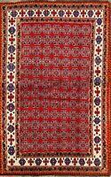 Geometric Gabbeh Oriental Area Rug Wool Hand-Knotted Vegetable Dye Carpet 4'x7'