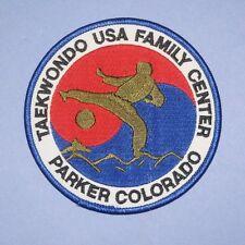 Taekwondo Usa Family Center Patch - Parker Colorado - Martial Arts (iron-on)