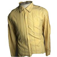 "Tommy Bahama Mens Yellow Long Sleeve Button Front Shirt Size XL ""C"