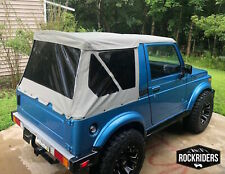 1986-1994 Suzuki Samurai Replacement Soft Top with Zip Out Tinted Windows Gray