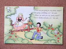 R&L Postcard: Hazel Singer, J Arthur Dixon, Nursery Rhyme No.14 Pretty Maid
