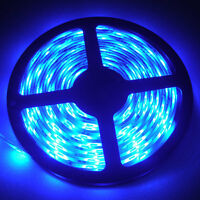 5M/16.4ft Waterproof Ultra Blue 3528 SMD 300 LEDs Flexible Strip Light Tape 12V