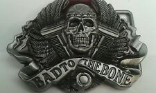 'Bad to the Bone' Belt Buckle.
