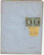 1 c EMPIRE N° 19 PAIRE obl Paris sur IMPRIME COMPLET manque bande adresse 1864