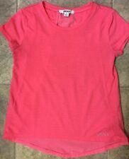 DKNY Girls Pink High/Low Shirt Back of Shirt Rayon w/2 Keyhole Openings Sz M
