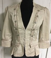 Women's Size 4 White House Black Market Jacket Blazer Shabby Chic Tan