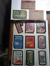 1973 Wacky Packages 3rd Series Stickers Lot of 10 + 2 Checklists FREE S/H