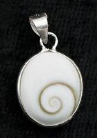 Ciondolo Ovale Occhio Di Shiva / Lucie-Gioielli Argento Massiccio 925-W35-10075