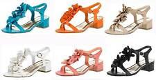 Markenlose Damen-Sandalen & -Badeschuhe im Knöchel-/Fesselriemen-Stil aus Synthetik für Mittlerer Absatz (3-5 cm)