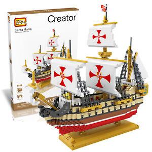 Santa Maria Columbus Sailing Fleet Micro Building Block 2660pcs LOZ-9048 w. Box
