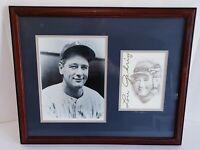 Lou Gehrig Framed Picture Bill Dotson Sketch