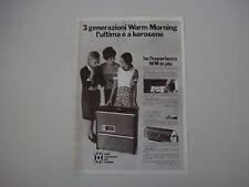 advertising Pubblicità 1969 STUFE WARM MORNING