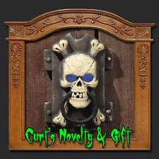 LIGHT UP SKULL DOOR KNOCKER Halloween Haunted Prop 5603