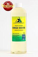 BORAGE SEED OIL ORGANIC CARRIER GLA-20% COLD PRESSED PREMIUM 100% PURE 16 OZ
