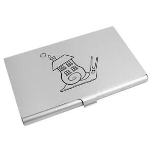 'Snail Home' Business Card Holder / Credit Card Wallet (CH00014375)