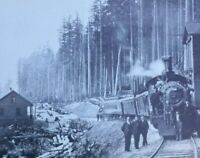 Postcard, Esquimalt And Nanaimo Railway 1911 Train, Vancouver Island Vintage P03